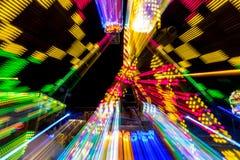 Giro carnaval di esposizione lunga fotografia stock