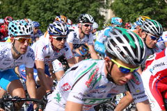 Giro d'Italia 2009. Cyclists from main group at the second stage (Jesolo – Trieste) in the Tour of Italy May 2009 in Sistiana, Italy Stock Photography