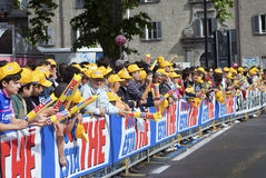 Giro d'Italia 2009 - fans crowd Stock Photos