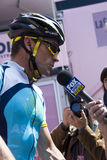 Giro d'Italia 2009 - Lance Armstrong. The bicyclist Lance Armstrong (Astana team) at the international cycling event 100° Giro d'Italia. The photo is takes at Stock Photos