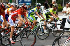 Giro d'Italia 2009 - Race in Milan royalty free stock photo