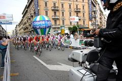 Giro d'Italia 2009 - Race in Milan royalty free stock image