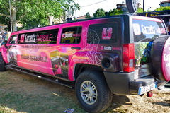 Giro d'Italia 2011. Limousine organization and main sponsor of the event Stock Image