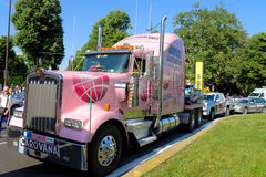Giro d'Italia 2011. Truck of the organization, and main sponsor of the event Stock Images