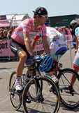 Giro d'Italia 2011. Britain's David Millar is currently the new maglia rosa of 94 ° giro d'Italia stock photo