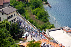 Giro d'Italia 2011 on lake Como (26/05/2011). The Italian national cycling race on Lake Como Royalty Free Stock Photos