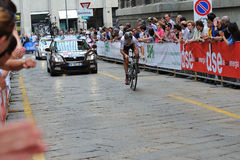 Giro d'Italia 2012 - downtown Milan Time trial Royalty Free Stock Photo