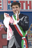 Giro d'Italia: Adriano Paroli mayor of Brescia Stock Image
