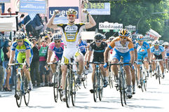 Giro d'Italia: Andre Greipel wins in Brescia Royalty Free Stock Photos