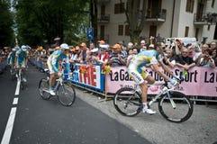 GIro d'Italia: Astana Team. Giro d'Italia 2010 in Levico Terme Royalty Free Stock Photo