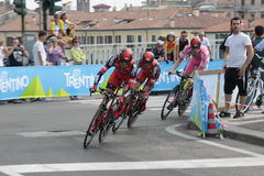 Giro d'Italia - BMC RACING  team Royalty Free Stock Photo