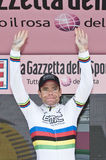 Giro d'Italia: Cadel Evans. Cadel Evans, famous cyclist, in Italy for the Giro Stock Images