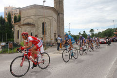 Giro d'Italia cycling competition. XV stage. The small group of six escapees royalty free stock photography