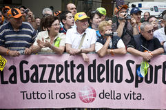 Giro d'Italia: fans. Giro d'Italia 2010 in Levico Terme Royalty Free Stock Photos