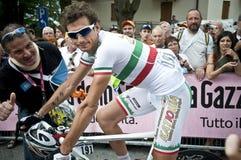 Giro d'Italia: Filippo Pozzato. A cyclist of Katusha team in Italy for Giro d'Italia. Location: Levico Terme Royalty Free Stock Photo