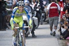 Giro d'Italia: Ivan Basso. A cyclist of Liquigas Doimo team, Ivan Basso, in Italy for Giro d'Italia. Location: Plan de Corones Royalty Free Stock Photos