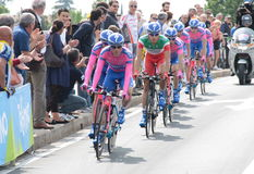 Giro d'Italia - LAMPRE ISD team Stock Photo