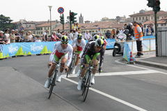 Giro d'Italia - ORICA team. Stage 4th of Giro di Italia - Verona ITALY - TEAM TIME TRIAL - 9th may 2012 stock photos
