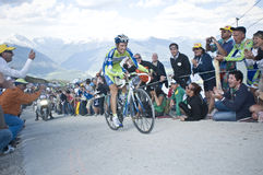Giro d'Italia Plan de Corones Kronplatz. Giro d'Italia 2010 in Plan de Corones Royalty Free Stock Photography