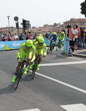 Giro d'Italia - SELLE ITALIA FARNESE team. Stage 4th of Giro di Italia - Verona ITALY - TEAM TIME TRIAL - 9th may 2012 royalty free stock photos