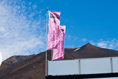 Giro d'italia in the stage of Etna. Alberto Contador in the ninth stage of Giro d\'Italia during the ascent of Etna Royalty Free Stock Photography