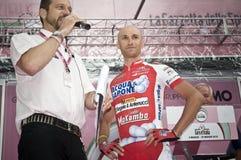 Giro d'Italia: Stefano Garzelli. A cyclist of Acqua e Sapone team in Italy for Giro d'Italia. Location: Levico Terme Stock Image