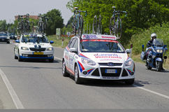 Giro d'Italia 2014, suport car Androni � Venezuela Royalty Free Stock Photo