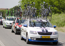 Giro d Italia 2014, suport car of Team Giant-Shima Royalty Free Stock Photos