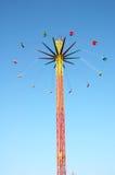 Giro d'oscillazione al parco di divertimenti Fotografie Stock