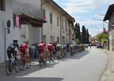 Giro d&#x27 Περάσματα της Ιταλίας μέσω Moimacco Στοκ Εικόνες