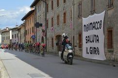 Giro d' De Passen van Italië door Moimacco Stock Foto