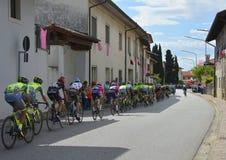 Giro d'Italia Passes Through Moimacco Royalty Free Stock Photo