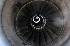 Giro da turbina do avião imagem de stock royalty free
