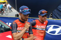 "Giro De Pologne Bahrain†2017 ""Merida Pro Cycling Team Immagine Stock"