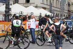 Giro De Pologne 2017 MOVISTAR Fotografie Stock Libere da Diritti