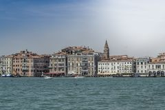 Giro del canale di Giudecca, Venezia, Italia fotografia stock
