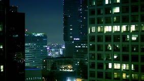 Giro del centro dell'elevatore alla notte archivi video