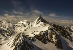 Giro del cielo sul ghiacciaio di Stubai Fotografia Stock