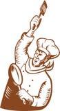 Giro del cuoco unico del panettiere Immagini Stock