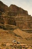 Elicottero all'estremità del Grand Canyon Fotografia Stock Libera da Diritti