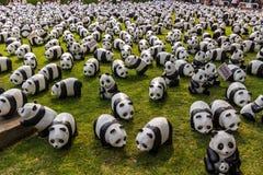 Giro del mondo di 1600 panda Fotografia Stock