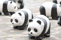 Giro del mondo di 1600 panda in Hong Kong Fotografia Stock Libera da Diritti