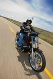 Giro del motociclista Fotografia Stock