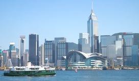 Giro del porto del traghetto della stella e di Hong Kong Immagine Stock Libera da Diritti