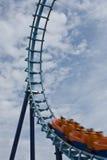 Giro del roller coaster Fotografia Stock