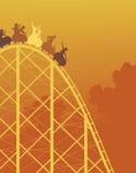 Giro del roller coaster Immagini Stock
