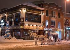 Giro del trasporto di Snowy Fotografia Stock Libera da Diritti