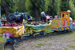 Giro del treno dei bambini Fotografia Stock