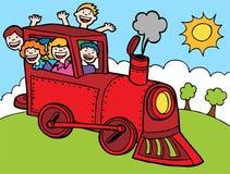 Giro del treno del bambino Immagini Stock