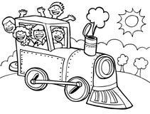 Giro del treno del bambino - in bianco e nero Fotografie Stock Libere da Diritti